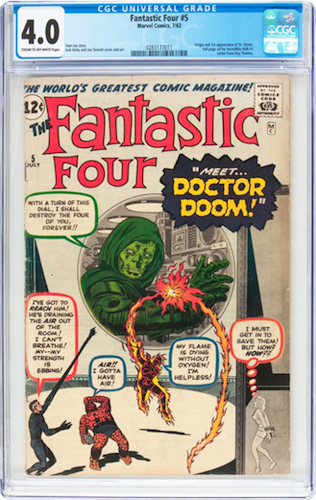 Marvel Villains #2: Dr. Doom. Invest in a CGC 4.0 of his first appearance in FF #5. Click for values