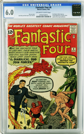 We recommend grabbing a CGC 6.0 of Fantastic Four 6 before this book becomes totally unaffordable, as FF#5 has. Click to buy a copy