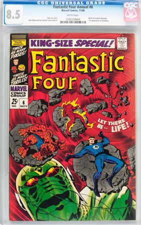 100 Hot Comics #15: Fantastic Four Annual 6, 1st Annihilus. Click to buy a copy