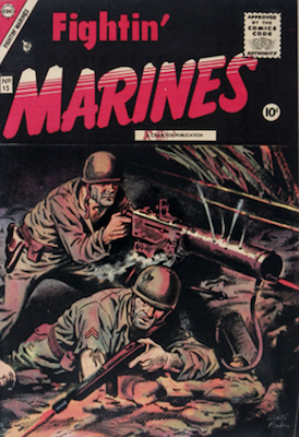 Fightin' Marines #15, classic Matt Baker war comic. Click for values