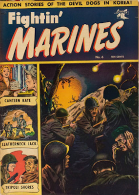 Fightin' Marines #6: Baker cover art. Click for values