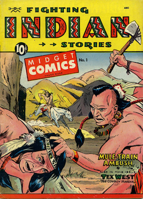 Fighting Indian Stories / Midget Comics #1. Matt Baker cover. Click for values