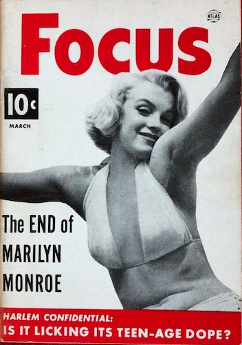 Atlas Magazines Focus: Marilyn Monroe cover. Click for values