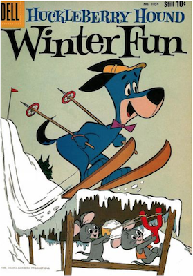 Four Color #1054: Huckleberry Hound Winter Fun. Click for values.