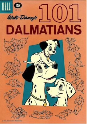 Four Color #1183: Walt Disney's 101 Dalmatians. Click for values.