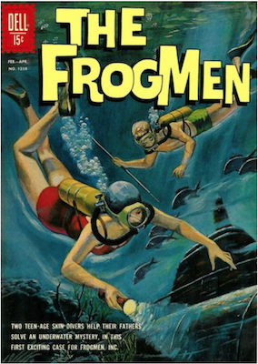 Four Color #1258: The Frogmen (#1). Click for values.