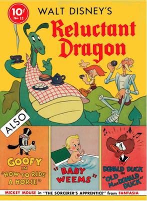 Four Color #13: Walt Disney's Reluctant Dragon. Click for values.