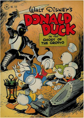 Four Color #159: Donald Duck in the Ghost of the Grotto by Carl Barks. Click for values.