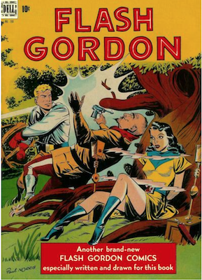 Four Color #190: Flash Gordon; 5th flying saucer cover on comic books. Click for values.