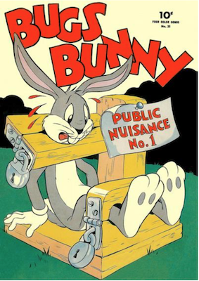 Four Color #33: Bugs Bunny, Public Nuisance #1. Click for values.