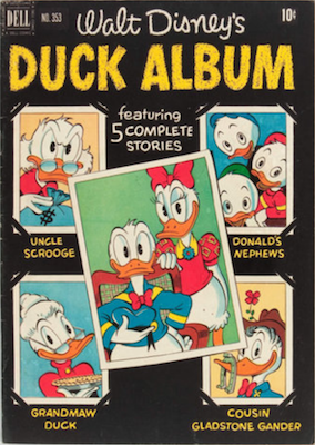 Four Color #353: Duck Album; 1st Uncle Scrooge Cover. Click for values