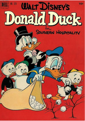 Four Color #379: Donald Duck in Southern Hospitality, 2nd Uncle Scrooge. Click for values.