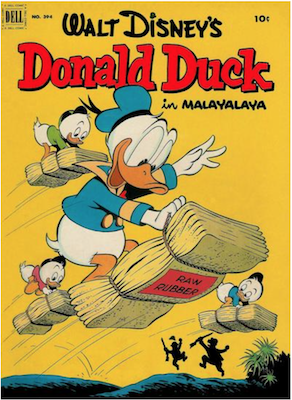 Four Color #394: Donald Duck in Malayalaya, Carl Barks cover. Click for values.