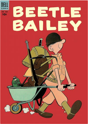 Four Color #469: Beetle Bailey (#1). Click for values.