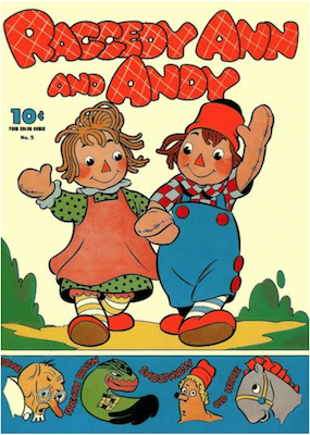 Four Color #5: Raggedy Ann and Andy (#1). Click for values.