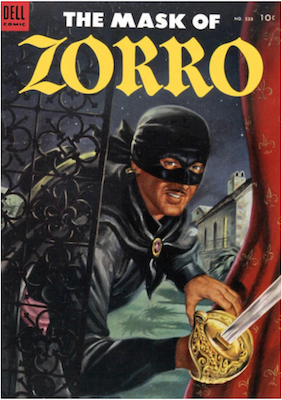 Four Color #538: The Mask of Zorro. Click for values.