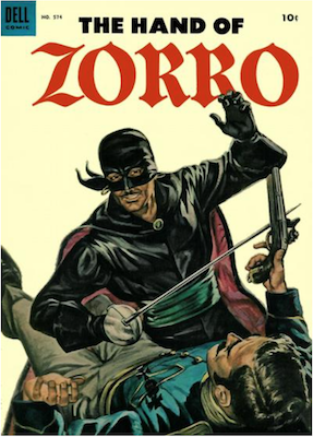 Four Color #574: The Hand of Zorro. Click for values.