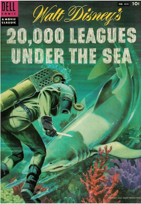 Four Color #614: 20,000 Leagues Under the Sea. Click for values.