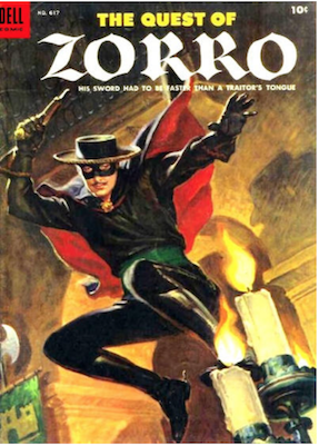 Four Color #617: The Quest of Zorro. Click for values.