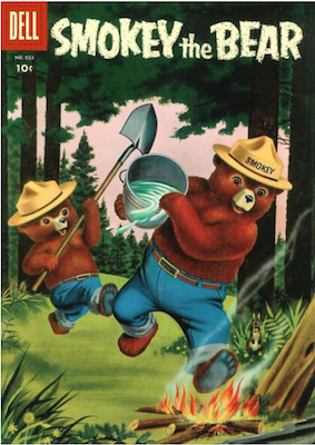 Four Color #653: Smokey the Bear (#1). Click for values.