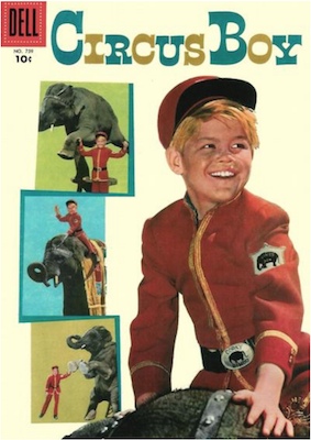 Four Color #759: Circus Boy, Monkees photo cover. Click for values.