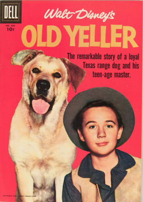 Old Yeller: Four Color #869. Dell. Click for values