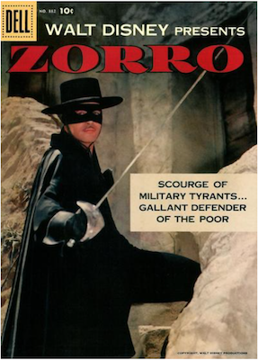 Four Color #882: Zorro, 1st Disney issue. Click for values.