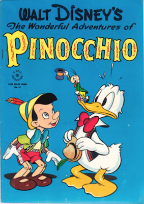 Four Color #92, Walt Disney's the Wonderful Adventures of Pinocchio; Donald Duck by Walt Kelly. Click for values