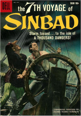 Four Color #944: The 7th Voyage of Sinbad, Buscema cover art. Click for values.