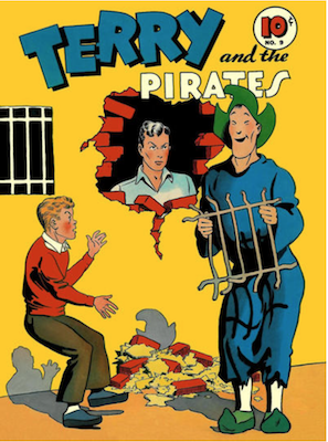 Terry and the Pirates: Four Color #9. Dell Comics. Click for values
