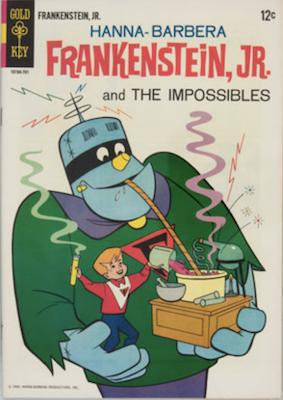 Frankenstein, Jr. #1 (1967), Gold Key comics. Click for values