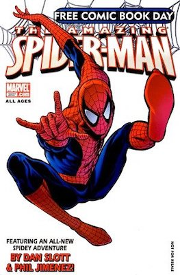 Free Comic Book Day 2007: Spider-Man, 1st Mister Negative and Jackpot. Click for values