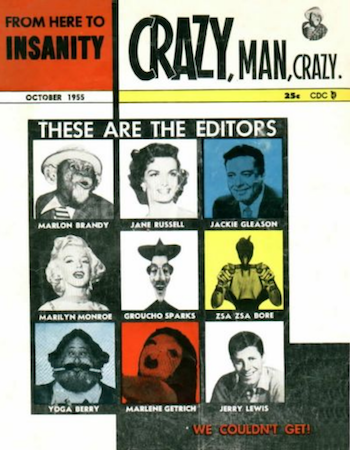 From Here to Insanity #12 by Charlton Comics: Marilyn Monroe cover appearance. Click for values