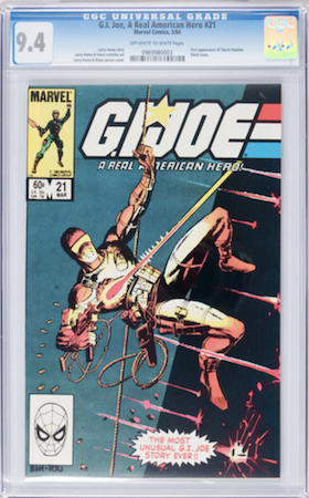 GI Joe 21 is tough to find in high grade. The 9.8 ship has already sailed. We recommend CGC 9.4. Click to buy a copy