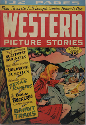 Giant Comics Editions #6: Western Picture Stories. Rare. Matt Baker cover. Click for values
