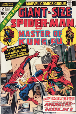 Giant-Size Spider-Man #2: First meeting between Spider-Man and Shang Chi. Click for values