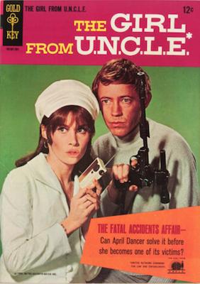 Girl from U.N.C.L.E. #1 (1967), Gold Key comics. Click for values
