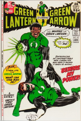 Green Lantern #87: 1st John Stewart. Click for values