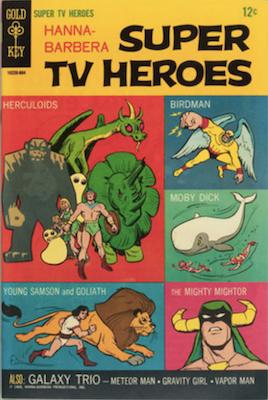 Hanna-Barbera Super TV Heroes #1, Gold Key comics. Click for values