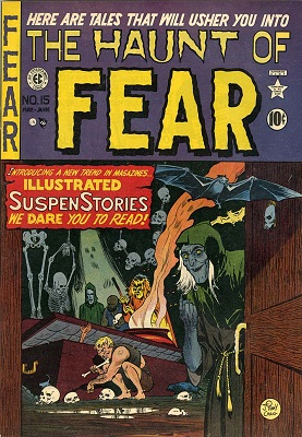 "Haunt of Fear #15 (1950): First issue of the series (continued from ""Gunfighter""); Classic Graham Ingels artwork. Click for value"