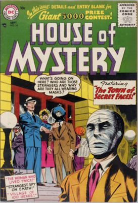 House of Mystery #54. Click for current values.