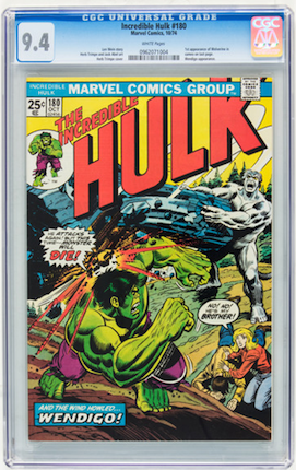 You can barely tell the difference between a good 9.2 and a 9.4. Incredible Hulk #181 is a great investment, but wouldn't you rather have a high-grade #180 as well, for the same money?