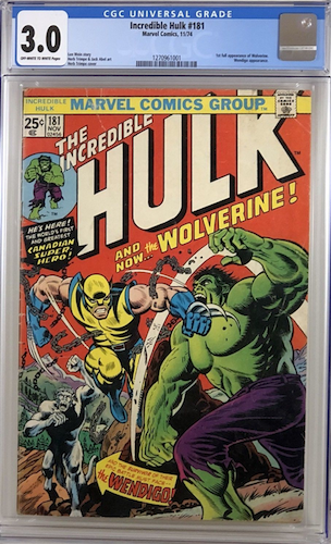 Creases, wear, this Hulk 181 3.0 is not pretty