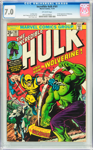 Incredible Hulk #181 CGC 7.0. A nice-looking copy for sure