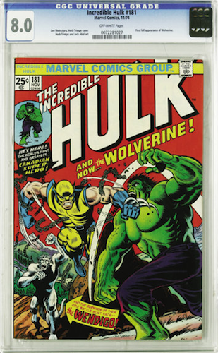 Incredible Hulk #181 CGC 8.0. A nice copy of this book, finally