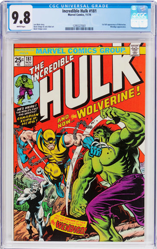 Incredible Hulk #181 CGC 9.8. There is no doubting that this is a desirable book in this grade