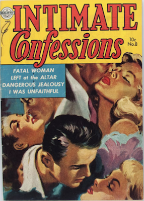 Intimate Confessions #8 romance comic. Click for values