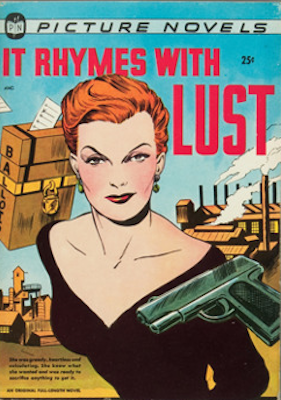 It Rhymes With Lust comic book: Matt Baker cover. Click for values