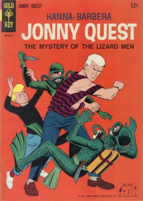 Jonny Quest #1 (1964), Gold Key. Click for values