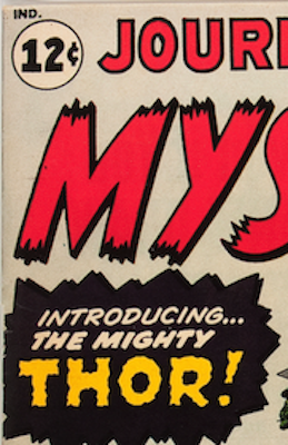 Front Covers of Original Marvel Issues Have Prices Printed on Them. Note the box with the text in it is black